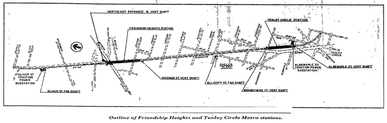 Friendship Heights and Tenleytown Metro stations