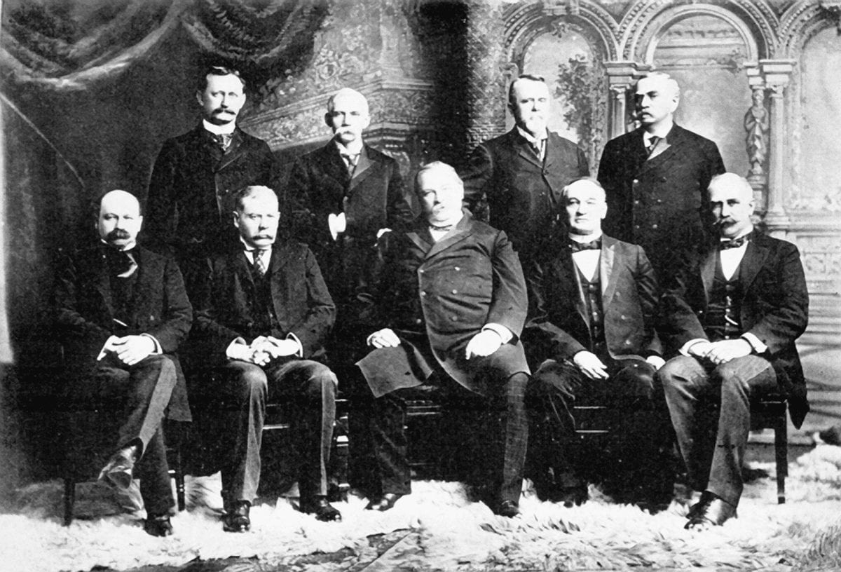 Where Did President Grover Cleveland's Cabinet Live?