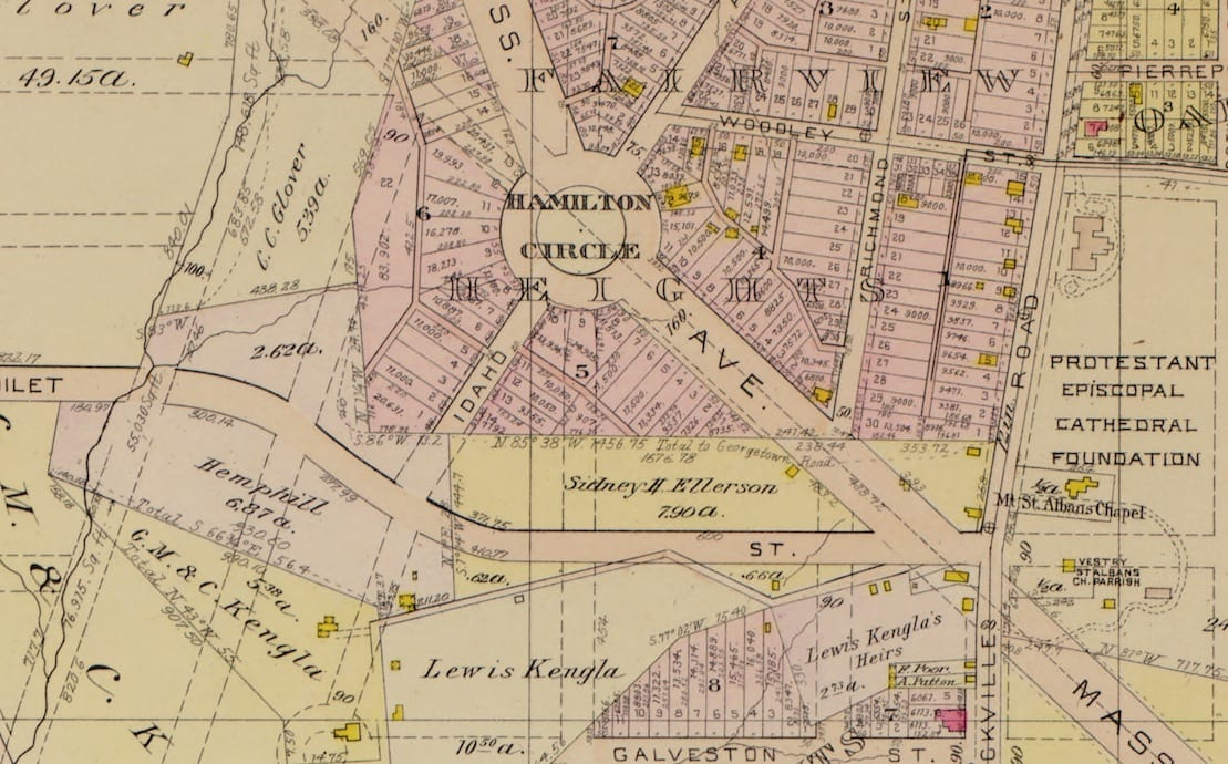 Hamilton Circle and Fairview Heights in 1903