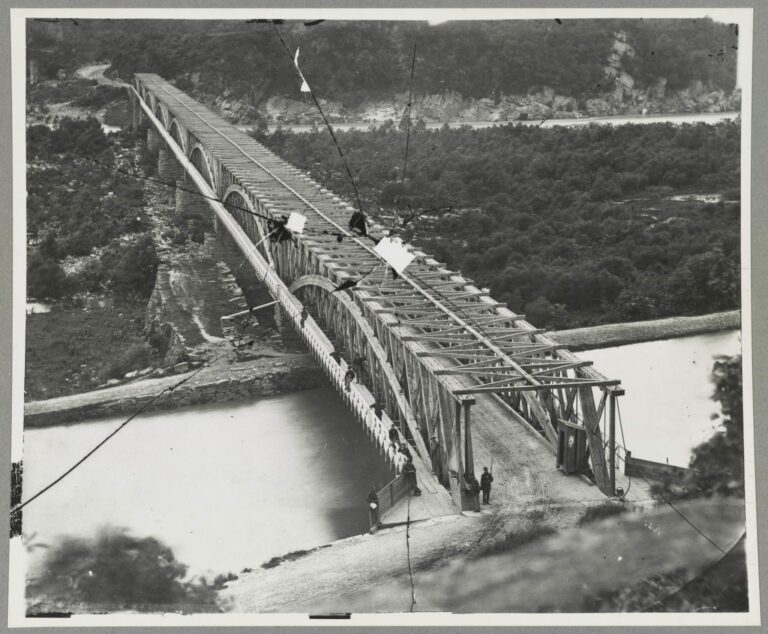 Chain Bridge in 1861