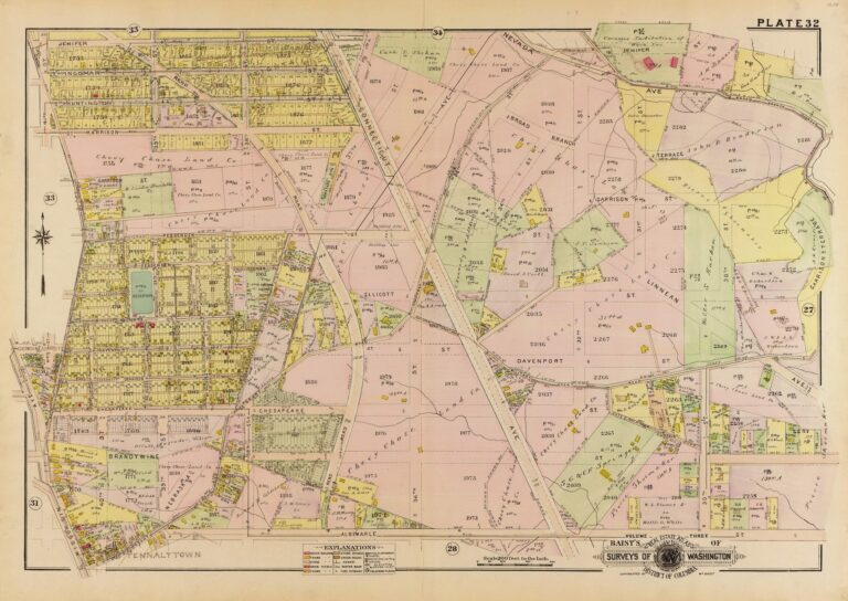 1913 map of Chevy Chase, DC