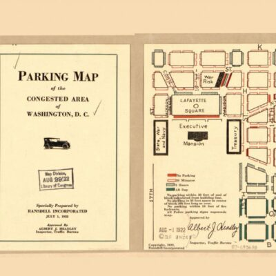 Parking map of the congested area of Washington, D.C. (1922)