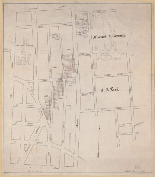1919 proposal to extend Vermont Ave.
