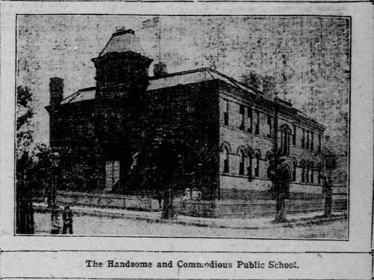 June 7th, 1903 - Drawing of the future Eaton School