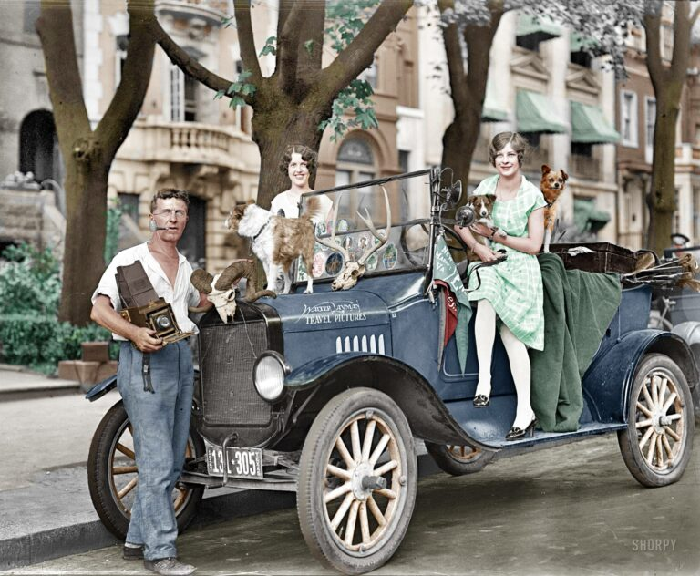 Washington, D.C., circa 1927. Nature Magazine -- Walter Layman. (Colorized Photo).