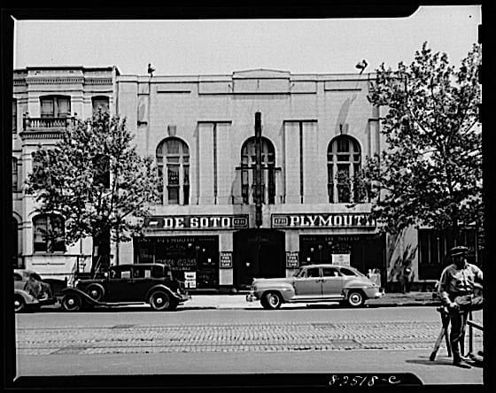 Washington, D.C. Automobile store on 14th Street which has stock of frozen cars