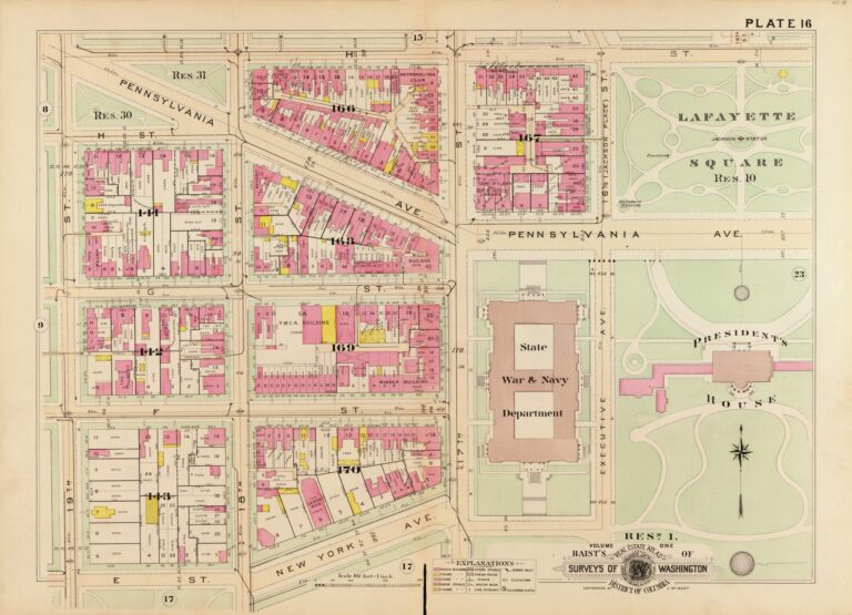 1903 map of area around today's World Bank