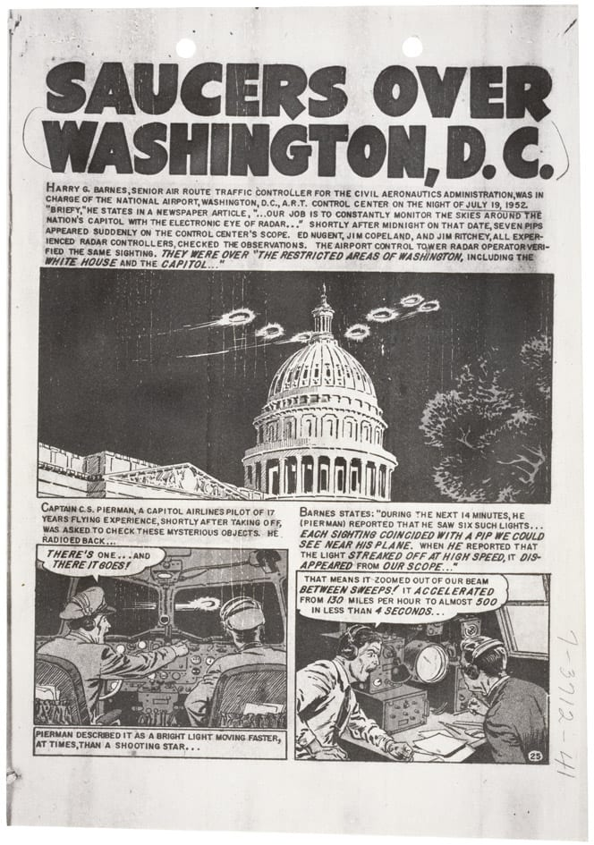 Flying Saucers Over the Capitol and White House