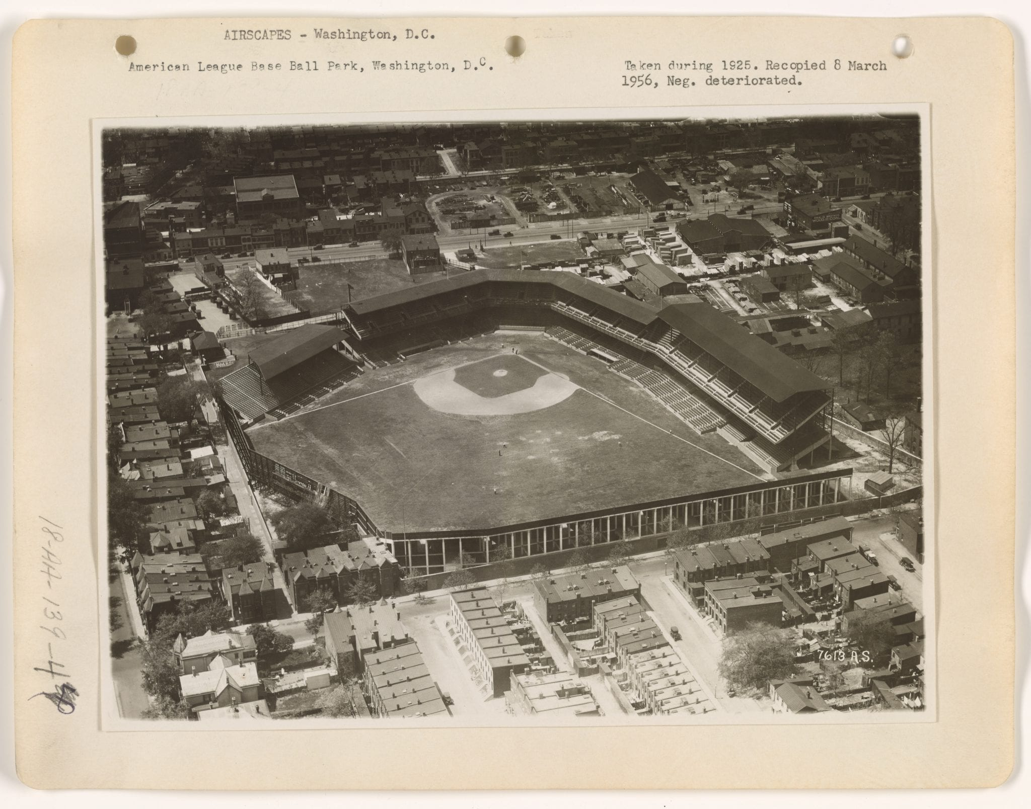 Griffith Stadium from the air in 1925