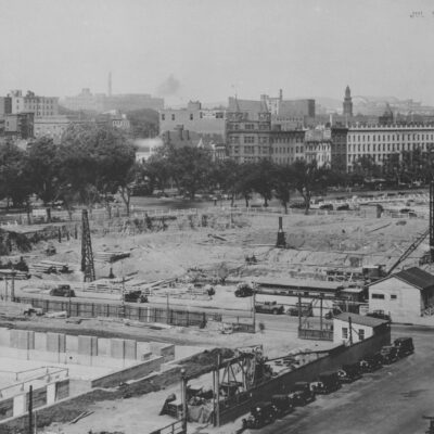 Photograph of a View of the Entire Site for the National Archives Building, Washington, D.C.