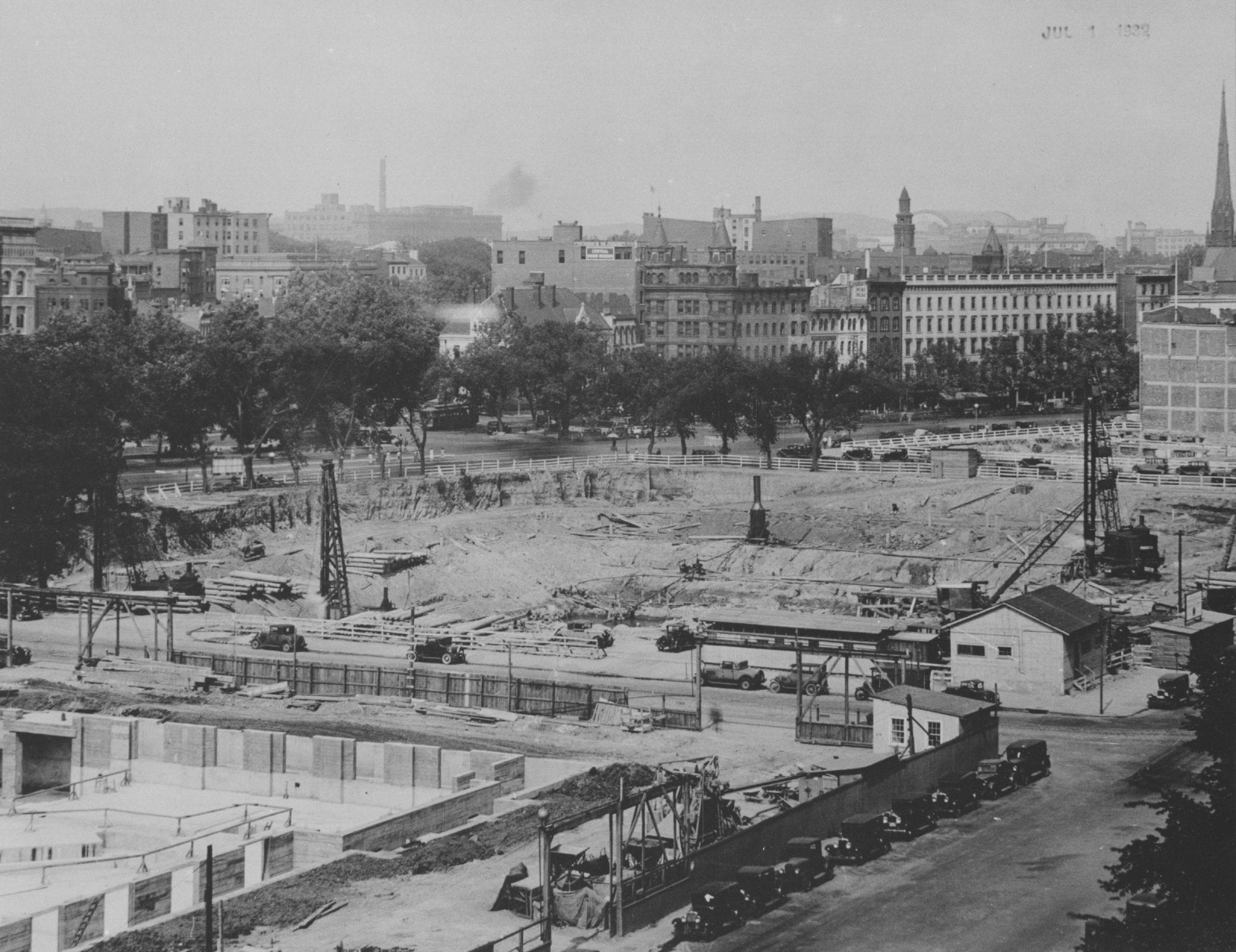 View of National Archive Site Construction in 1932