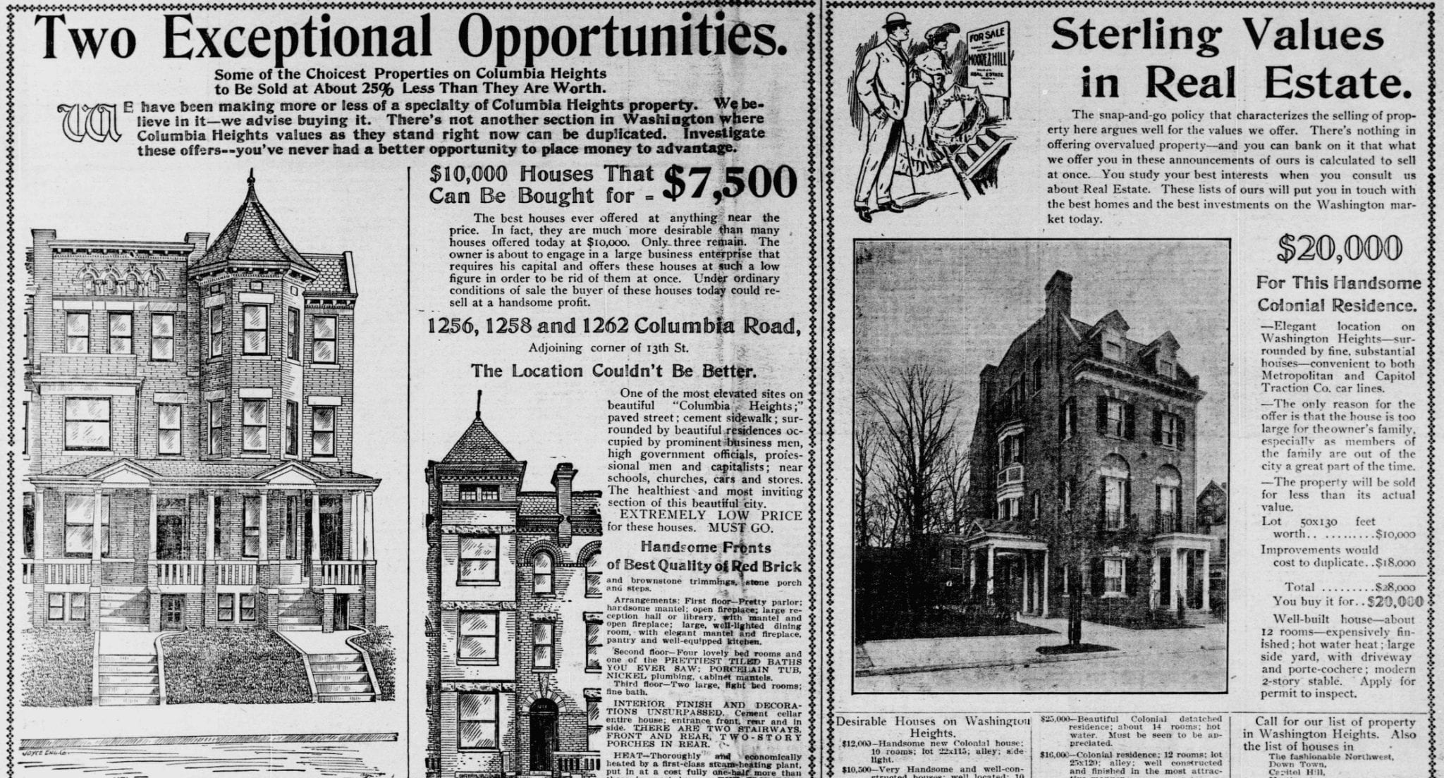 1904 Columbia Heights Real Estate Ad