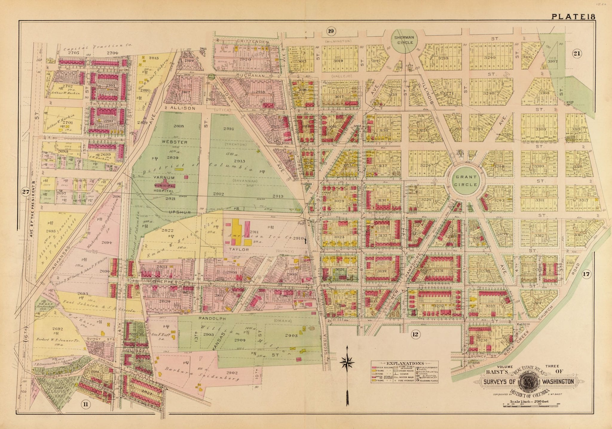 1913 map of Petworth