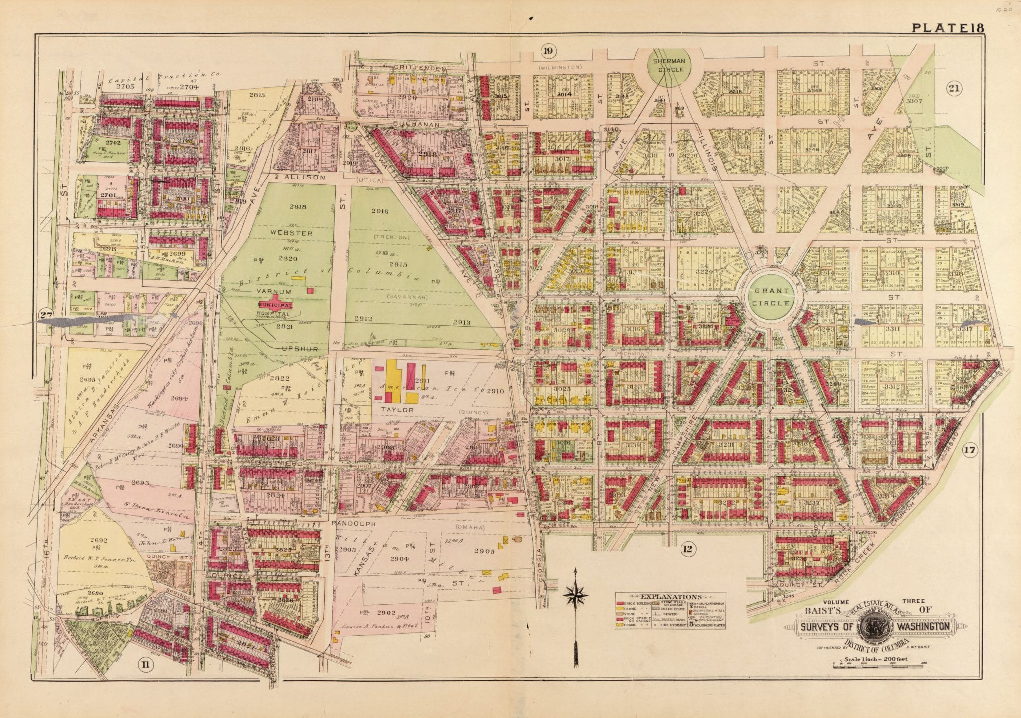 Maps of Petworth Development from 1903 to 1919