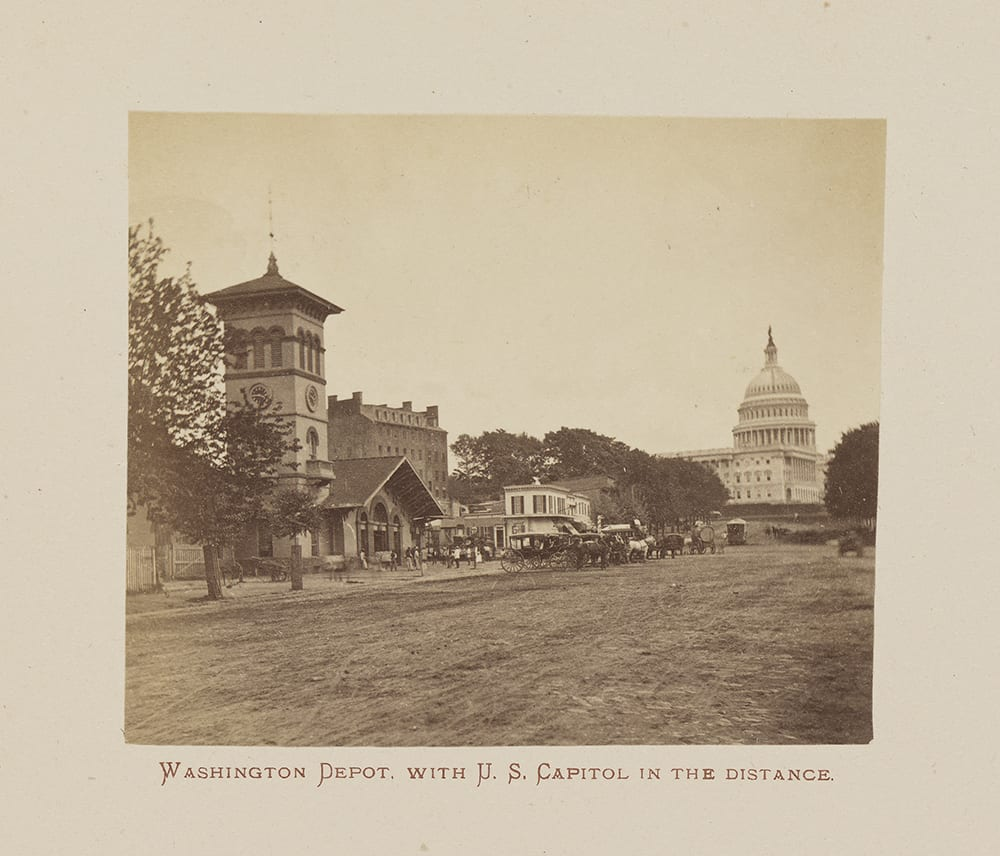 This is an albumen print from the book Photographic Views of the Baltimore and Ohio Rail Road, and Its Branches, From The Lakes to The Sea, which is illustrated with images of attractions found along the route of the Baltimore and Ohio Railroad between Baltimore and Chicago.