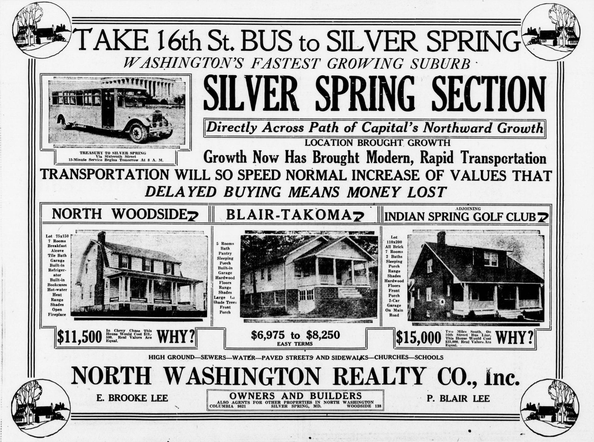 Buy a Home in 1925 Silver Spring