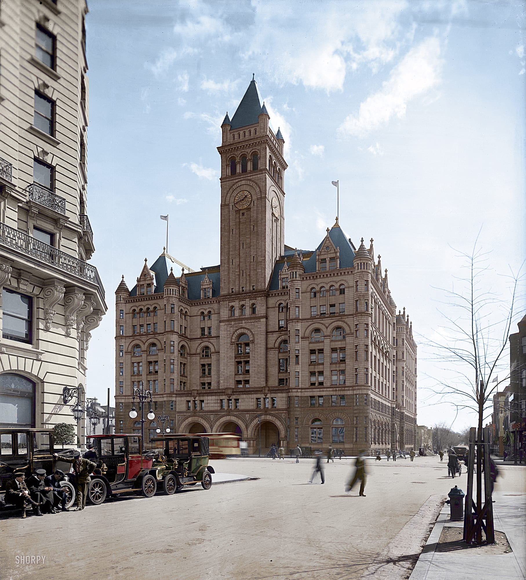 Stunning Colorized Photo of Old Post Office
