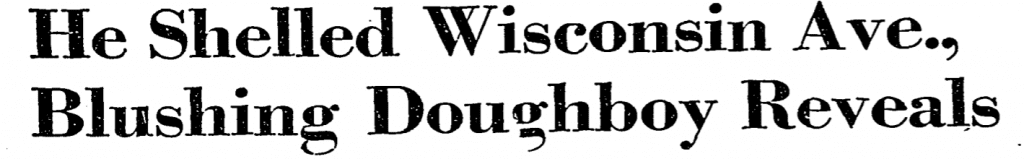 Washington Post headline - 1958