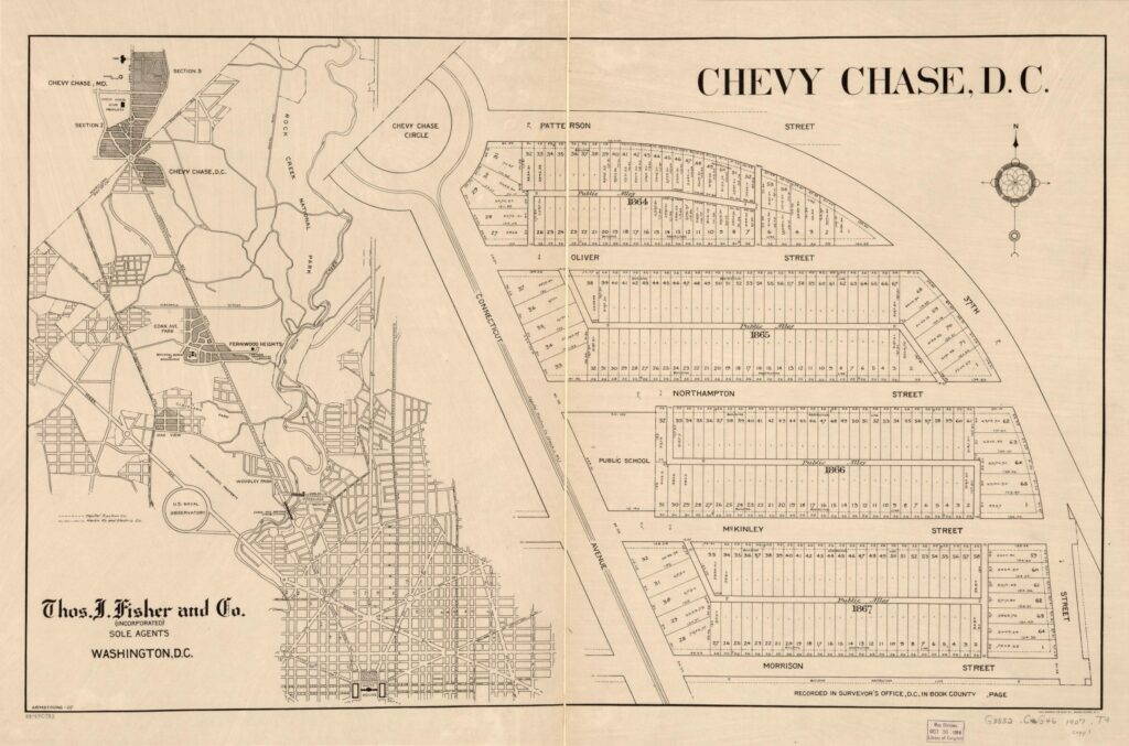 Chevy Chase Map From 1907 | Ghosts of DC on