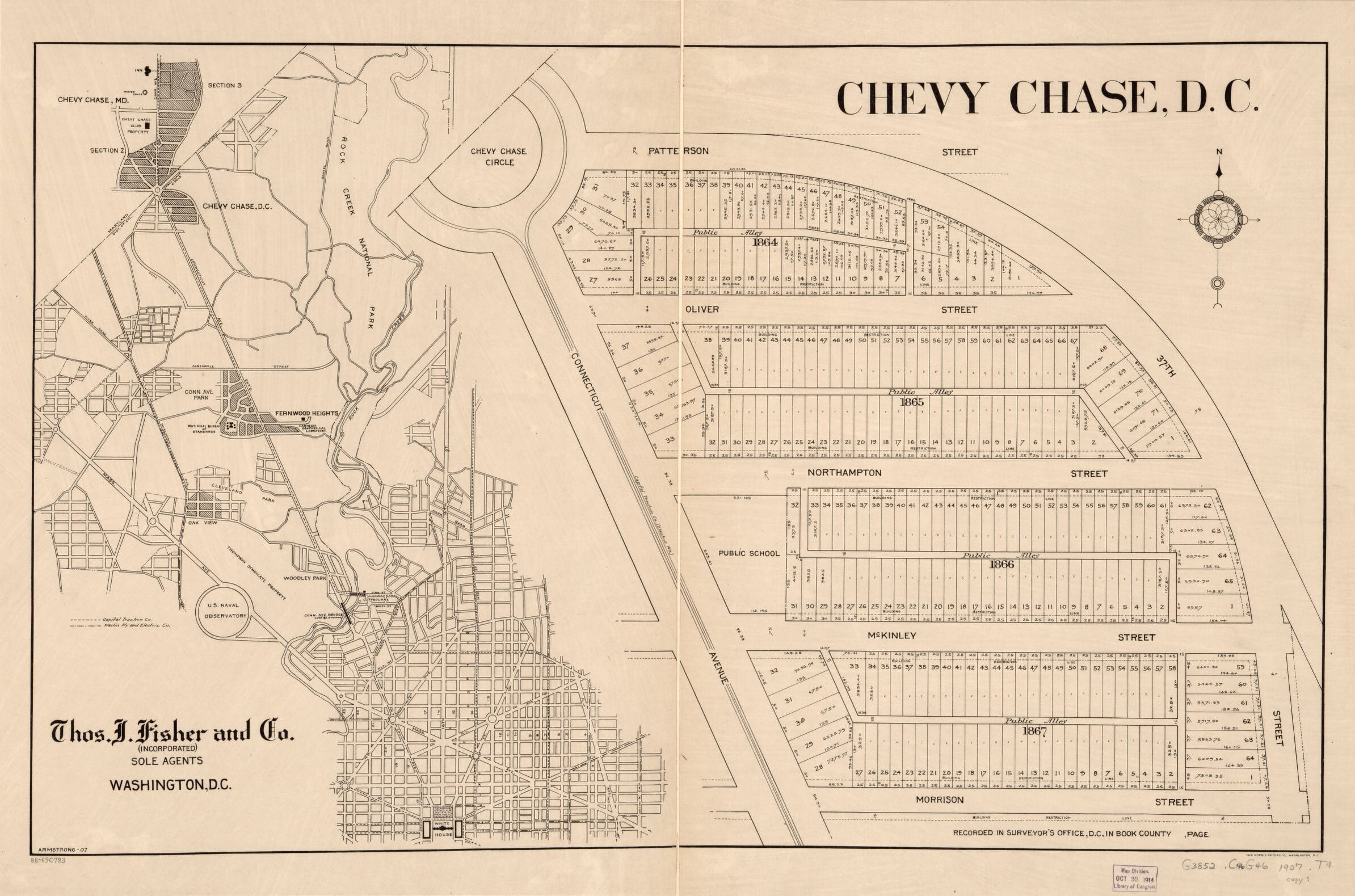 Chevy Chase Map From 1907