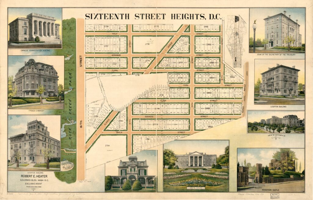 Map of Sixteenth Street Heights development in 1910