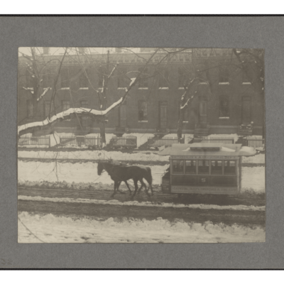 Snowy Maryland Avenue in 1890s Southwest