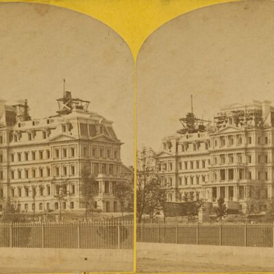 Old Executive Office Building Under Construction